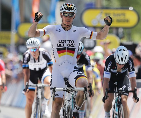 Andre Greipel wins stage 6 Tour down under