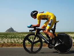 Froome at Mont-St-Michel